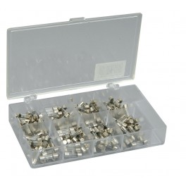 Assortment of 20 x 5mmØ fast blow fuses - 160pcs